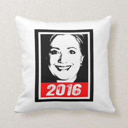 HILLARY CLINTON 2016 INK ART.png Pillow