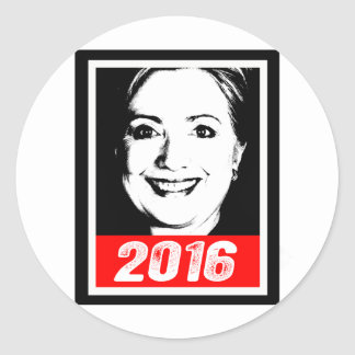 HILLARY CLINTON 2016 INK ART.png Round Stickers