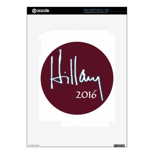 Hillary Clinton 2016 iPad 2 Calcomanía
