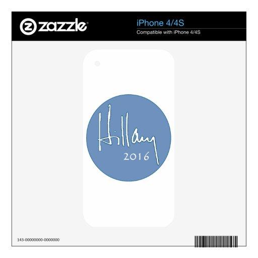 Hillary Clinton 2016 iPhone 4 Skin