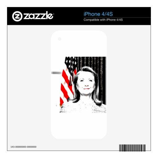 Hillary Clinton 2016 iPhone 4 Skins