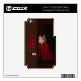 Hillary Clinton 2016 iPod Touch 4G Skin