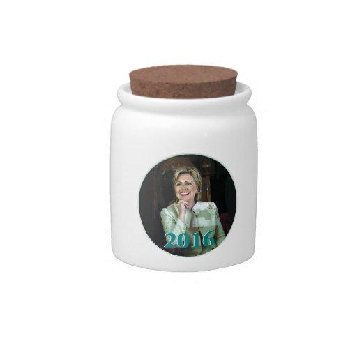 Hillary Clinton 2016 Jarras Para Caramelos
