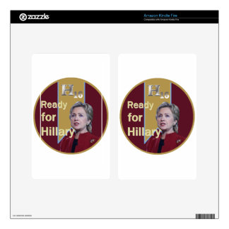 Hillary Clinton 2016 Kindle Fire Decals