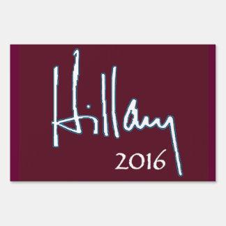 Hillary Clinton 2016 Letrero