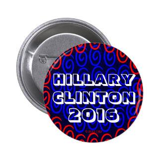"""HILLARY CLINTON 2016 LUCKY SWRILS 2 1/4"""" PINS"""