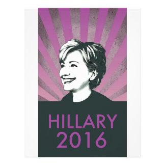 Hillary Clinton 2016 Membrete A Diseño