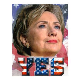 Hillary Clinton 2016 Membrete Personalizado