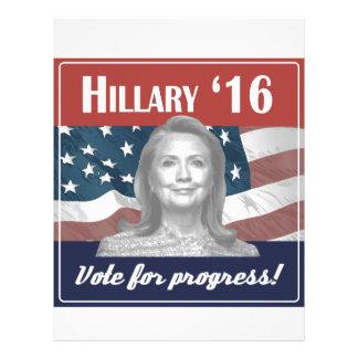 Hillary Clinton 2016 Membretes Personalizados