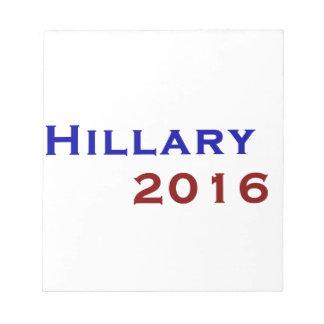 Hillary Clinton 2016 Memo Note Pad