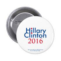 Hillary Clinton 2016 Mimalilst Edition 2 Inch Round Button