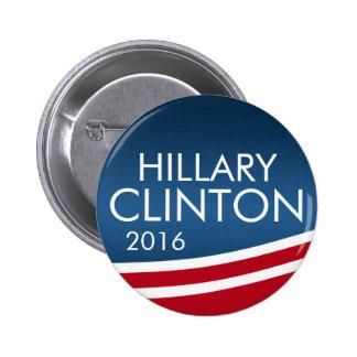 Hillary Clinton 2016 Modern Swoop Design 2 Inch Round Button