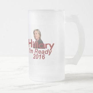 Hillary CLINTON 2016 Glass Beer Mugs