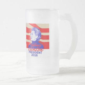 Hillary CLINTON 2016 Glass Beer Mug