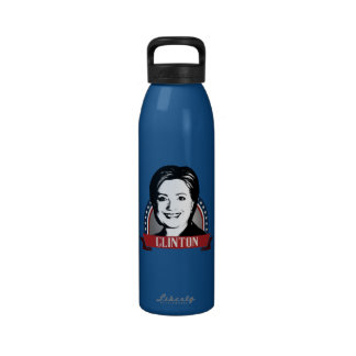 HILLARY CLINTON 2016 NAMEPLATE WATER BOTTLE