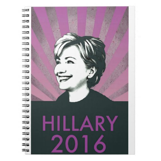 Hillary Clinton 2016 Spiral Note Books