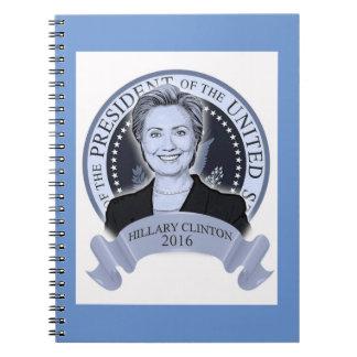 Hillary Clinton 2016 notebook. Spiral Notebook
