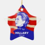Hillary Clinton 2016 Double-Sided Star Ceramic Christmas Ornament