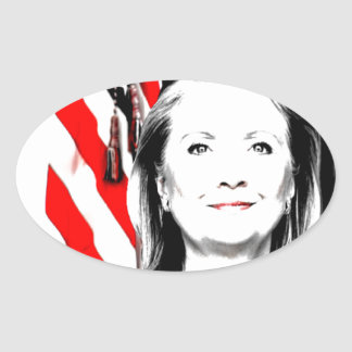 Hillary Clinton 2016 Oval Sticker