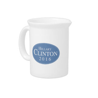 HILLARY CLINTON 2016 OVALESQUE BEVERAGE PITCHER
