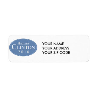 HILLARY CLINTON 2016 OVALESQUE -.png Return Address Label