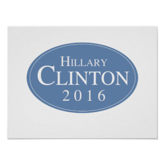 HILLARY CLINTON 2016 OVALESQUE - .PNG POSTERS