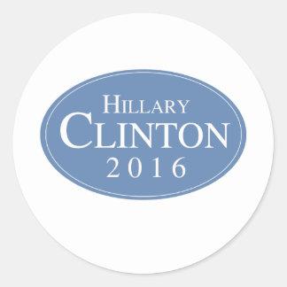 HILLARY CLINTON 2016 OVALESQUE - .PNG ETIQUETAS REDONDAS