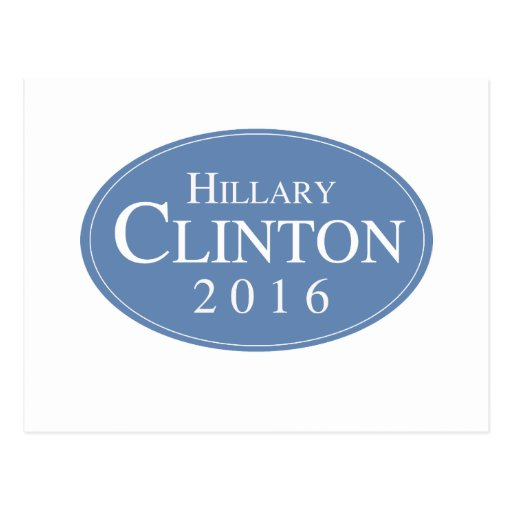 HILLARY CLINTON 2016 OVALESQUE -.png Postcards