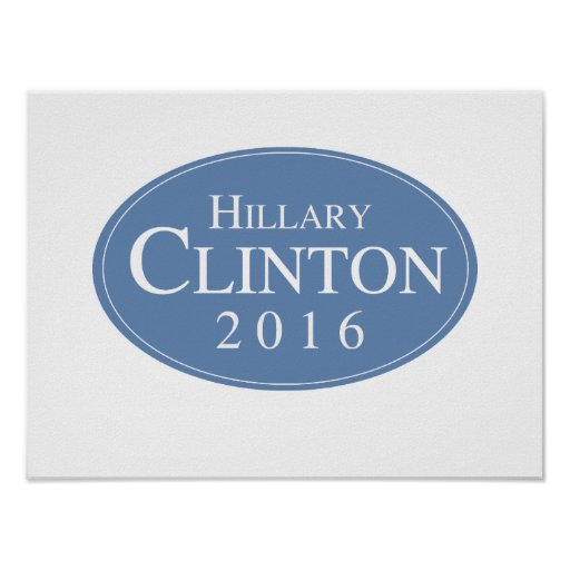 HILLARY CLINTON 2016 OVALESQUE -.png Print