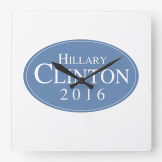HILLARY CLINTON 2016 OVALESQUE - .PNG RELOJ DE PARED
