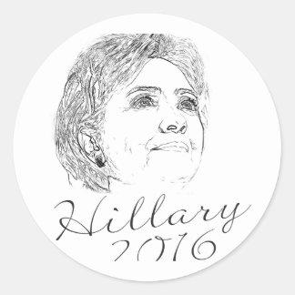 Hillary Clinton 2016 Etiqueta Redonda
