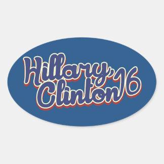 Hillary Clinton 2016 Calcomanía De Oval