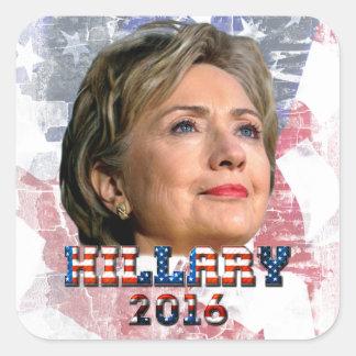 Hillary Clinton 2016 Colcomania Cuadrada