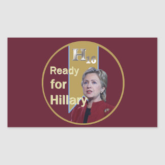 Hillary Clinton 2016 Rectangular Pegatina