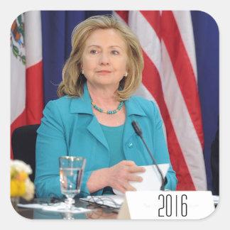 Hillary Clinton 2016 Pegatinas Cuadradases Personalizadas