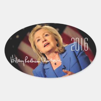 Hillary Clinton 2016 Calcomanías De Óvales Personalizadas