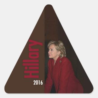 Hillary Clinton 2016 Pegatina De Triangulo Personalizadas