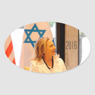 Hillary Clinton 2016 Pegatina De Óval Personalizadas