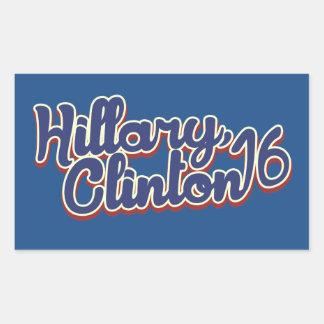 Hillary Clinton 2016 Rectangular Pegatinas