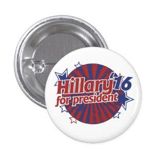 Hillary Clinton 2016 Chapa Redonda 2,5 Cm