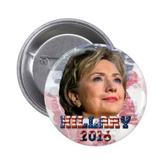 Hillary Clinton 2016 Pin Redondo De 2 Pulgadas
