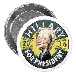 Hillary Clinton 2016 Pin Redondo De 3 Pulgadas