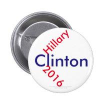 Hillary Clinton 2016 Pinback Buttons