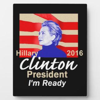 Hillary Clinton 2016 Photo Plaque