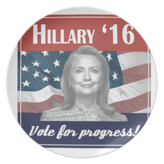 Hillary Clinton 2016 Dinner Plates