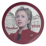 Hillary Clinton 2016 Plato De Comida