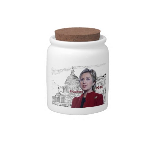 Hillary Clinton 2016 Platos Para Caramelos
