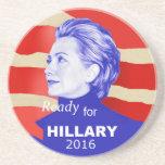 Hillary Clinton 2016 Posavasos Manualidades
