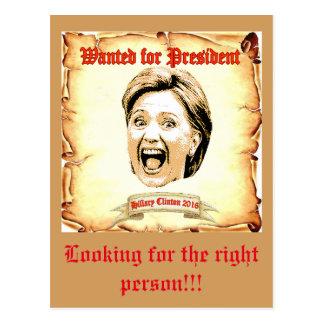Hillary Clinton 2016 post card. Postcard