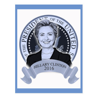Hillary Clinton 2016 postcard. Postcard